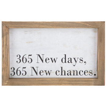 365 New Days Wood Wall Decor